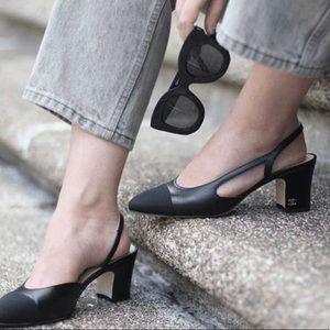 ❌SOLD❌CHANEL Mademoiselle Leather Slingback Sandal